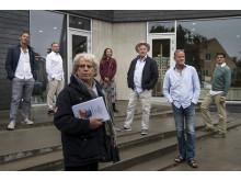 I baggrunden fra venstre Joachim Knop, Jesper Lundgaard, Silke Biranell. I forgrunden fra venstre Daniel Bohr, Anders Bircow, Anders Teigen og Tomas Ambt Kofod