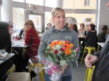 Lisa Nordén lyssnar på juryns motivering