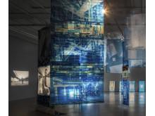 Edgar Cleijne och Ellen Gallagher, installationsvy, Highway Gothic, 2017. Bonniers Konsthall.