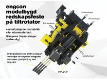 engcon modulbygd redskapsfeste på tillrotator