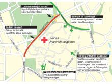 Trafikförändringar vid SUS i Lund