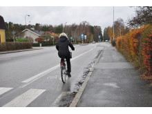 Cykelfält på Esplanaden i Lidköping