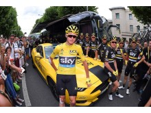 Chris Froome, a Team Sky és a Ford történelmi Tour de France-győzelmet ünnepeltek