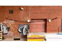 Banksy art at the community library