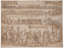 New acquisition: A 15th century drawing by François Chavueau of Queen Kristina entering Paris in 1656