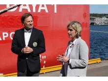 Havnedirektør Halvard Aglen og Audhild Kvam