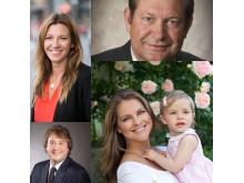 Prinsessan Madeleine,  Anna Ryott, Inge Thulin och Geoff Gage är nya ledamöter i styrelsen för World Childhood Foundation.
