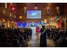 Installations- och promotionshögtid i Stockholms stadshus