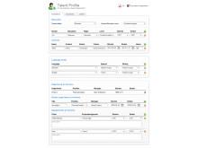 Skärmbild av talangprofil i Verismo HR
