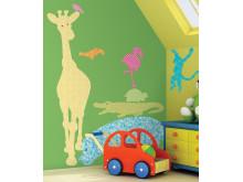 Barnrum med stickers på väggen från InTrade Roommates