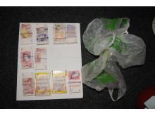 The £48,000 found hidden amongst Iqbal Haji's chicken nuggets