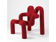 Ekstrem Ekstrøm. Terje Ekstrøm, Ekstrem stol, designet i 1972, produsert i 1984.