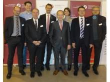 (v.li.). Dr. Jochen Hauck, Tim Quicken, Prof. Dr. Michael Nagy, Michael Kundel, Florian Gerster, Mailin Bode, Siegfried Neumann, Werner Sigmund.