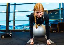 Friåkaren Evelina Nilsson som tävlar på Freeride World Tour tränar på SATS Åre