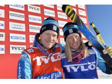 Victor VÖN Öhling-Norberg och Sandra Näslund på prispallen idag