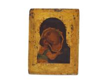 Russisk ikon af Gudsmoderen med barnet
