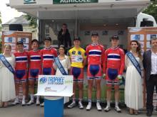 Juniorlandslaget på landevei vinner  Trophee Centre Morbihan sammenlagt
