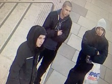 CCTV still of three suspects sought re: Southbank assault