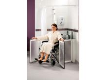 Sanftläufer Duschspritzschutz für häuslich Pflege
