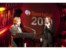 SportsAid alumnus Sir Bradley Wiggins at the SportsBall in 2010