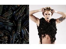 Funny Livdotter gör klädeskonst i lakrits till Lakritsfestivalen 2014