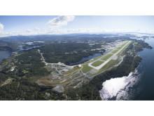 Panoramabildet Bergen lufthavn, Flesland