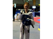 Abigail Stones has just become taekwondo junior world champion