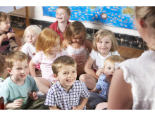 Barn på förskolan