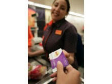 Nectar card being used at Sainsbury's