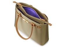 """HP 15.6"""" Premium Tote (Tan) pocket with zipper, left facing internal detail HP20150908391"""
