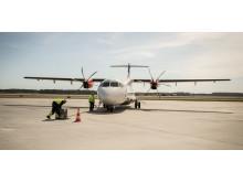 Flygplan på Visby Airport