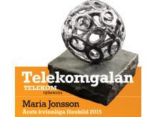 Maria Jonsson årets kvinnliga förebild