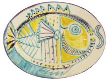 Fat, ingår i utställningen Picasso på ett fat. Keramik 1948-1971.