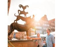 Bremen: par ved Bremer Sadtmusikanten