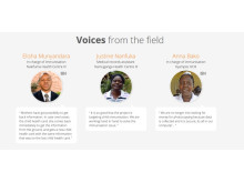 Listen to voices from the field in the Mukono implementation report