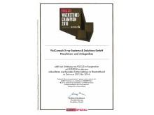 FOCUS growth champion 2018 certificate