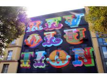 Verk av gatukonstnären Eine (Storbritannien), skapat i Berlin 2014