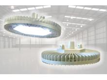 High Bay LED - robust diodstrålkastare för Ex/ATEX zon