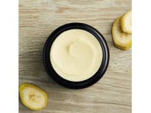Banana hair mask open jar