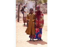 Sabria och hennes mamma Zeinabu  Guyo