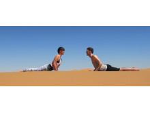 Sahara desert yoga holidays Cobra pose