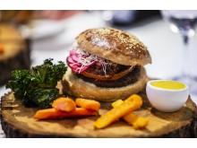 Vinnarbidraget: vegansk hamburgare