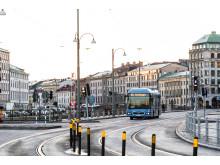 60-bussen på väg mot Stenpiren i Göteborg