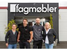 F.v: Lone Bech Spangelid, forretningsutvikling Optimera Handel, Tommy Johansen, ansvarlig proff og Byggeservice, Kåre Johnny Hage og Anniken Wollan.