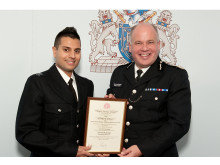 PC Ajay Singh and Deputy Commissioner Craig Mackey
