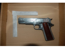 Firearm recovered from Bailey