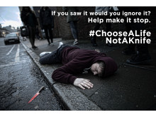 Cadets launch powerful poster campaign illustrating impact of knife crime