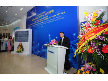 Mr. Eiji Fukumori, General Director, Panasonic Vietnam delivers the opening speech