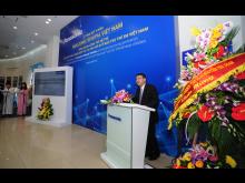 Mr. Eiji Fukumori, General Director, Panasonic Vietnam delivers the opening speech