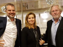 Jonas Michanek, operating incubator manager at UNN, Mia Rolf, CEO Ideon Science Park and Sven-Thore Holm, CEO Lundavision